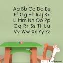 Sticker abcd éducatif enfant pour apprendre l'alphabet