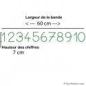 Stickers Chiffres - 10 Numeros Educatif -