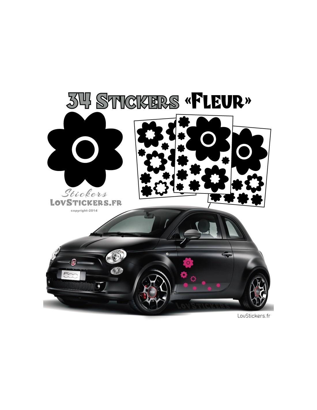 Stickers pour voiture pas cher for Stickers pas cher pour porte