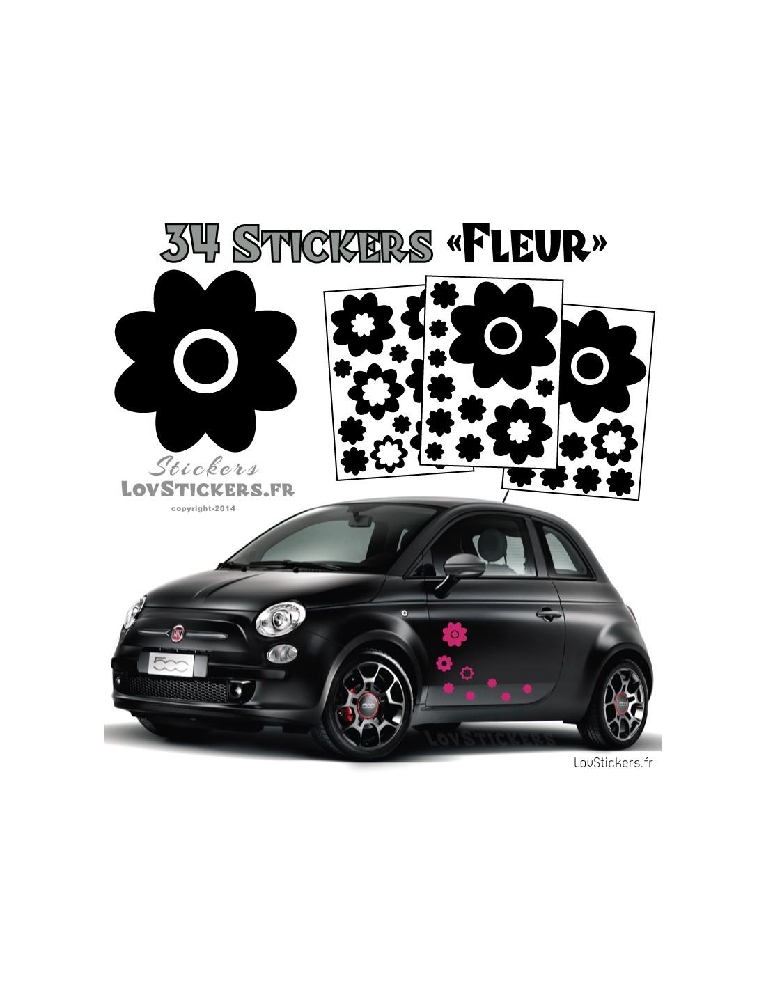 34 stickers fleurs deco 9 99. Black Bedroom Furniture Sets. Home Design Ideas