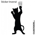 Sticker Chat qui griffe - Décoration intérieur en Vinyle - Nombreux coloris