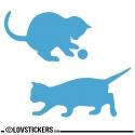 Sticker Chatons qui jouent - Sticker chat pas cher autocollant Décoration intérieur en Vinyle - Nombreux coloris