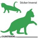 Sticker Chaton qui se réveil avec sa Maman - Décoration intérieur en Vinyle - Nombreux coloris