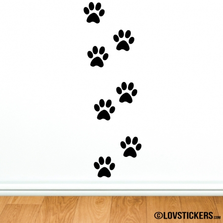 Sticker pattes de chat - Autocollant LovStickers.com