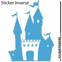 Stickers chateau fort pour chambre d'enfant - autocollant decoration pas cher