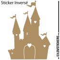 Sticker Chateau Princesse - Décoration intérieur en Vinyle - Nombreux coloris