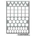 504 Stickers Mixte 1cm Triangle Carré Rond et Ovale