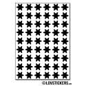 432 Stickers Etoiles 1cm - Décoration Gommette Loisirs - Vinyle Repositionnable