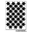 280 Stickers Etoiles 1,5cm - Décoration Gommette Loisirs - Vinyle Repositionnable
