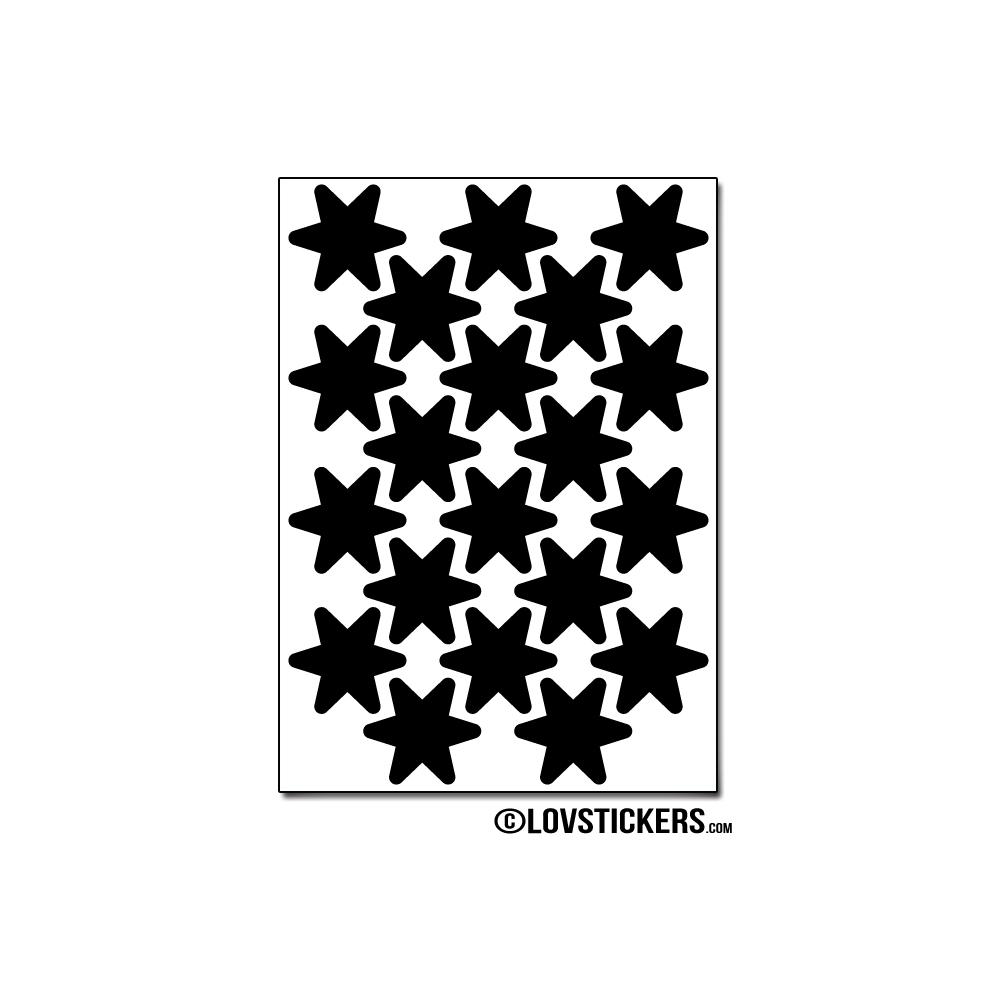 160 Stickers Etoiles 2cm - Décoration Gommette Loisirs - Vinyle Repositionnable