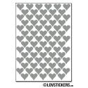 616 Stickers Coeur 1cm - Décoration Gommette Loisirs - Vinyle Repositionnable