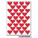 256 Stickers Coeur 1,5cm - Décoration Gommette Loisirs - Vinyle Repositionnable