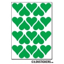 160 Stickers Coeur 2cm - Décoration Gommette Loisirs - Vinyle Repositionnable