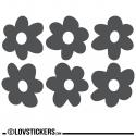 6 Sticker Fleur 20 cm - Décoration intérieur en Vinyle - Nombreux coloris