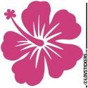 Sticker Hibiscus 60 cm - Décoration intérieur en Vinyle - Nombreux coloris