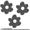 3 Stickers Fleur 20 cm - Décoration intérieur en Vinyle - Nombreux coloris