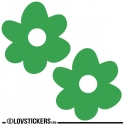2 Stickers Fleur 30 cm - Décoration intérieur en Vinyle - Nombreux coloris