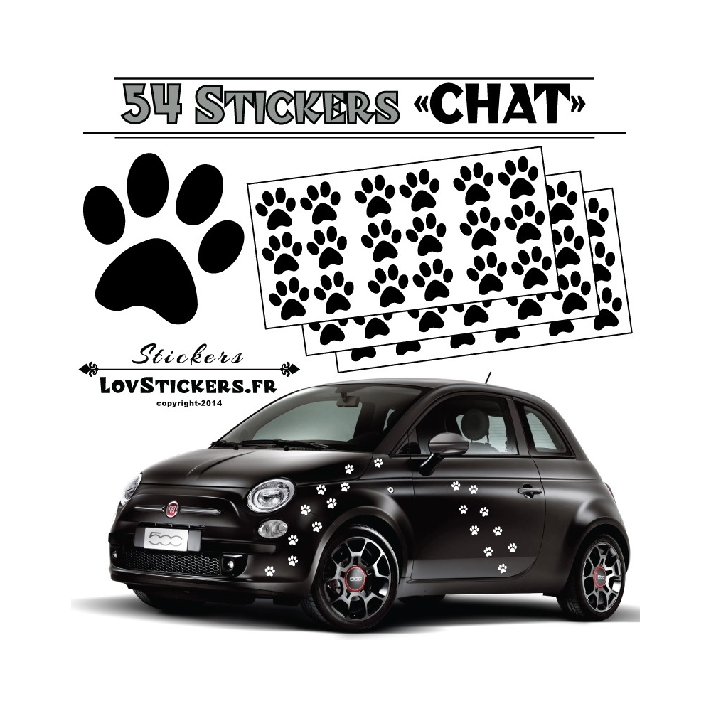 stickers pattes de chien voiture. Black Bedroom Furniture Sets. Home Design Ideas