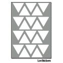 160 Triangles 2 cm - Gommette Pas cher de decoration Repositionnable en Vinyle