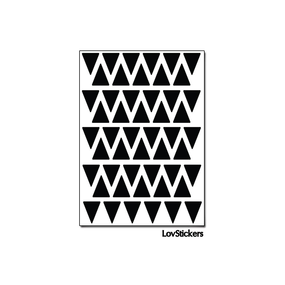 400 Triangles 1 cm - Modèle No2 - Gommette Triangle Deco Repositionnable en Vinyle