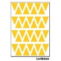 288 Triangles 1,2 cm - Modèle No2 - Gommette Triangle Deco Repositionnable en Vinyle