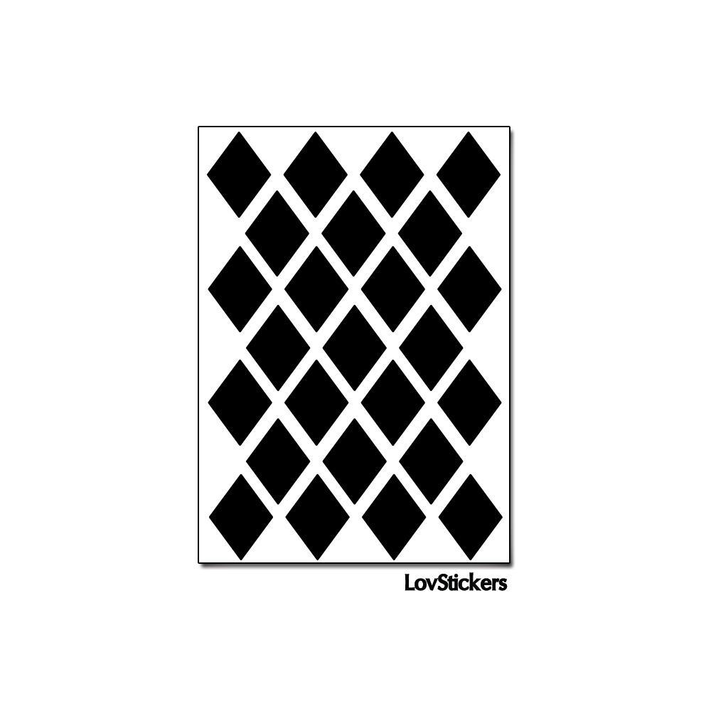 120 Stickers Losange 2 cm - Décoration Gommette Loisirs - Vinyle Repositionnable