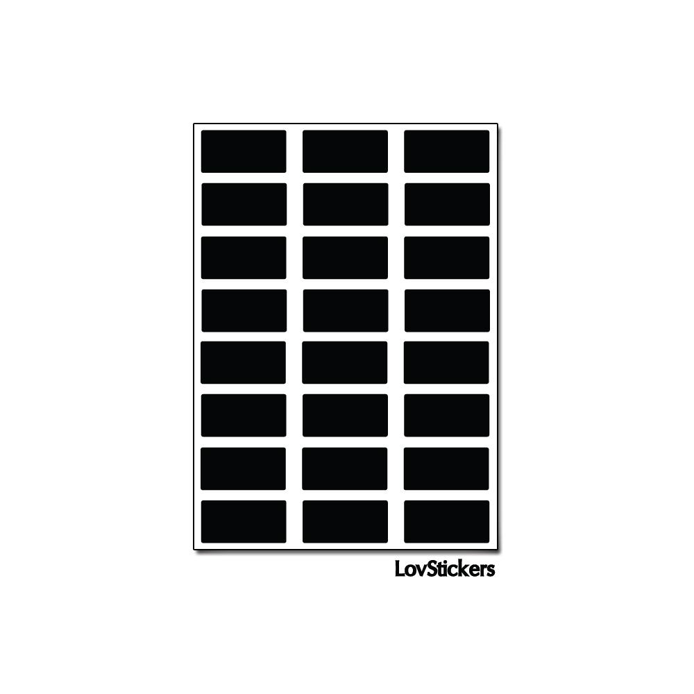 192 Stickers Rectangle 1 cm - Décoration Gommette Loisirs - Vinyle Repositionnable