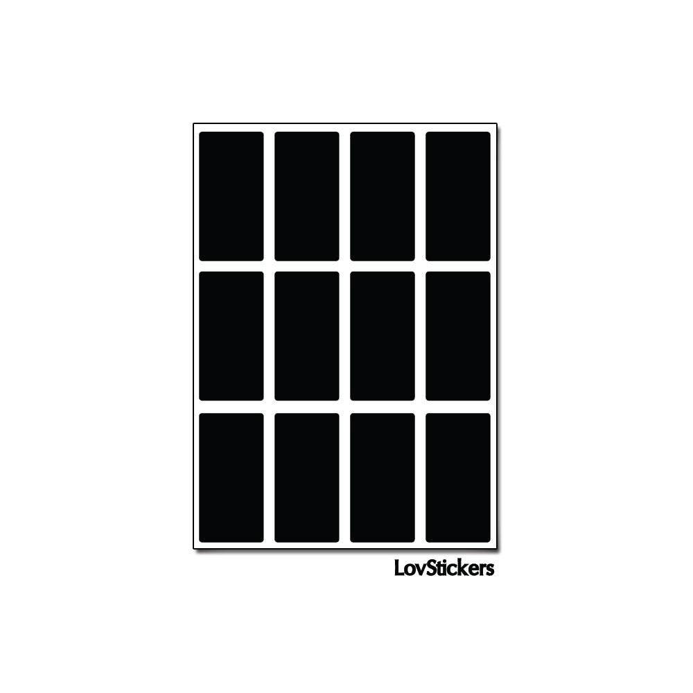 96 Stickers Rectangle 1,5 cm - Décoration Gommette Loisirs - Vinyle Repositionnable