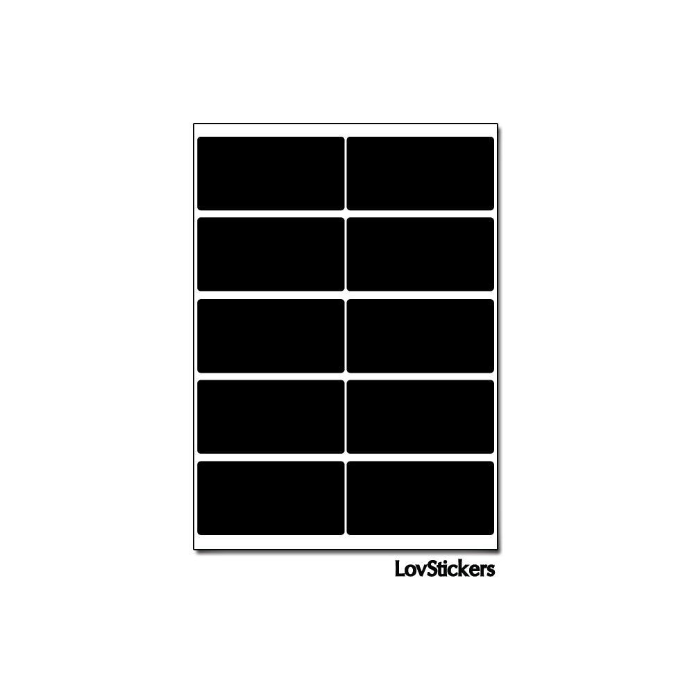 80 Stickers Rectangle 1,8 cm - Décoration Gommette Loisirs - Vinyle Repositionnable