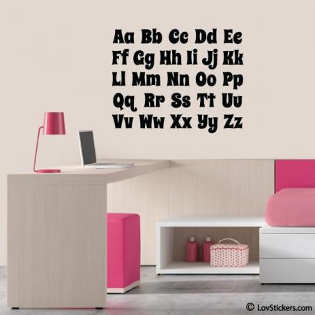 Sticker Alphabet - 55x 44 cm - Décoration murale éducative