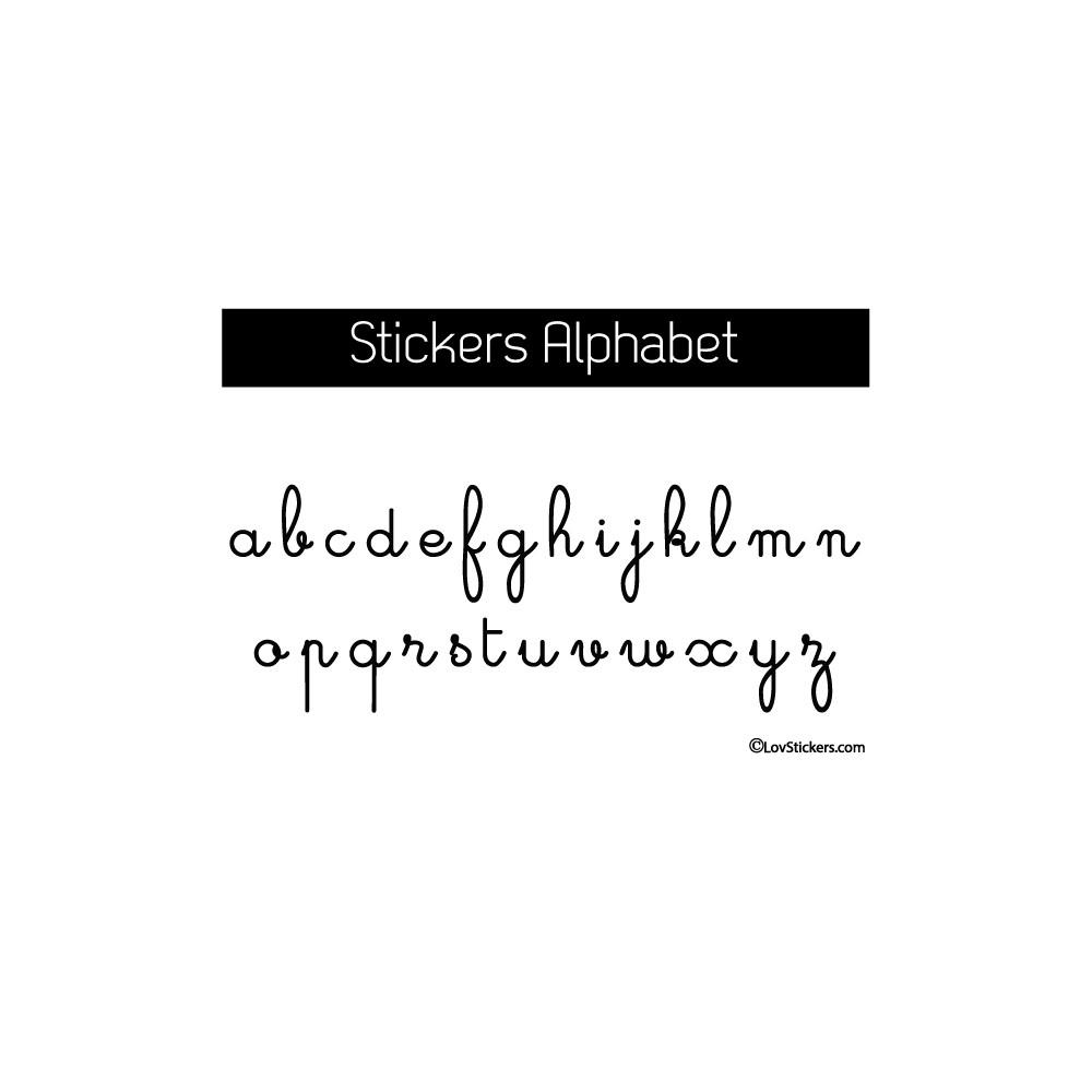Choix Couleur Stickers Muraux 26 Lettres Alphabet Ecriture école