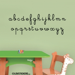 Sticker alphabet enfant
