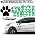 32 Stickers Pattes de Chat - Deco auto voiture