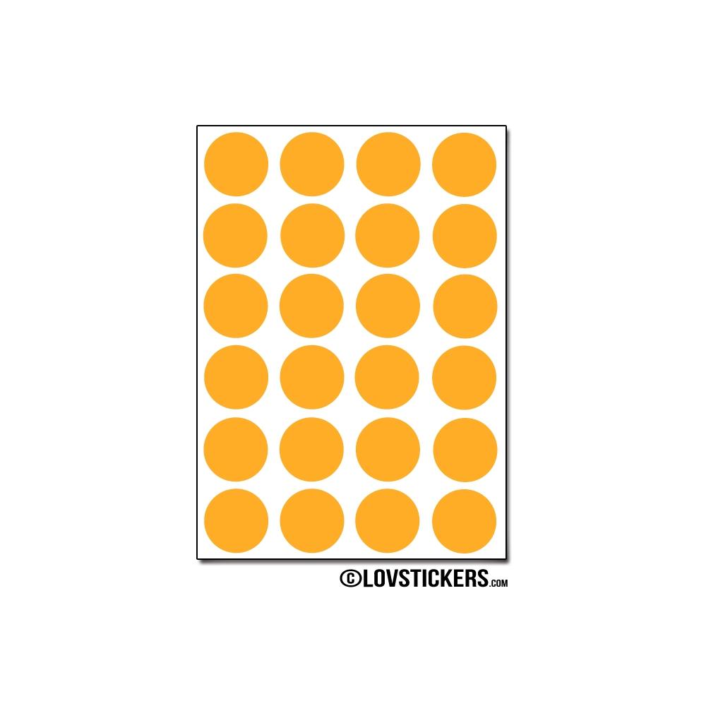 192 Stickers Ronds 1,5cm - Décoration Gommette Loisirs - Vinyle Repositionnable