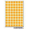 560 Carrés 0,8cm - Gommette Deco - Repositionnable - Vinyle