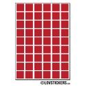 432 Carrés 1cm - Gommette Deco - Repositionnable - Vinyle