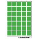 192 Carrés 1,5cm - Gommette Deco - Repositionnable - Vinyle