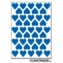 328 Stickers Coeur 1,2cm - Décoration Gommette Loisirs - Vinyle Repositionnable