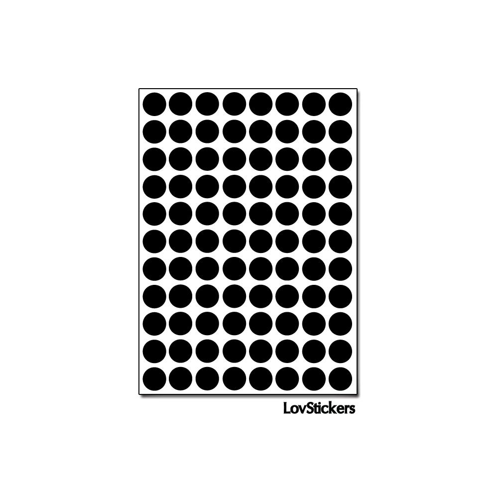 704 Ronds 0,8cm - Gommette Deco - Repositionnable - Vinyle