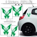 4 Stickers Papillons Mixte - Deco auto voiture papillons