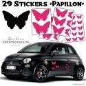 29 Stickers Papillons Mixte - Deco auto voiture papillons