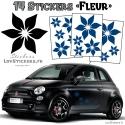 14 Stickers Fleurs - Deco auto voiture