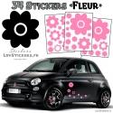 34 Stickers Fleurs - Deco auto voiture