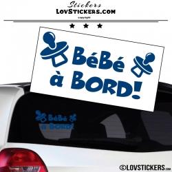 Sticker Bébé à Bord ! Coloris bleu
