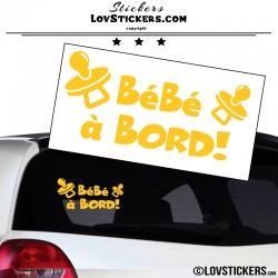 Sticker Bébé à Bord ! Coloris jaune