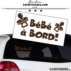 Sticker Bébé à Bord ! Coloris marron