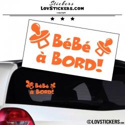 Sticker Bébé à Bord ! Coloris orange