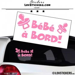 Sticker Bébé à Bord ! Coloris rose light