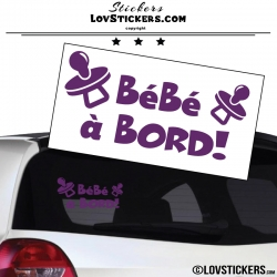 Sticker Bébé à Bord ! Coloris violet