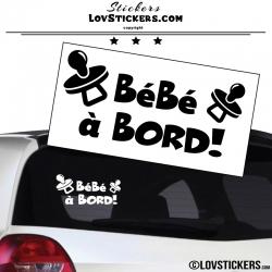 Sticker Bébé à Bord ! Coloris noir - Séecurité enfant voiture